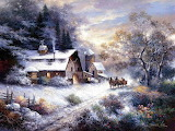 James Lee Snowy-Paysage hivernal-Art