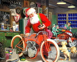 Colours-Colorful-Motorcycle-Santa-Art-by-Tom-Newsom