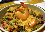 BeFOODled food blog Spanish food paella rice shrimp sausage peas