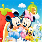 Babies Mickey Minnie and Pluto