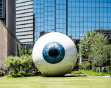 Giant Eyeball at Joule Hotel Dallas