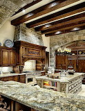 Stone and wood kitchen