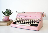 Another pink typewriter