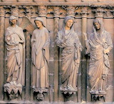 Four angels facade Reim Cathedral