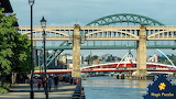 River bridges for traffic in Newcastle, England UK on Tyne by Ca