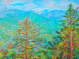 #Ranges by Arnold Valley Impressionist Mountain Painting