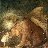 John Bauer, She Kissed the Bear