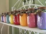 ^ Homemade Candles in Mason jars