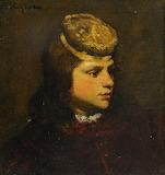 Head of a boy by Ferdinand Roybet
