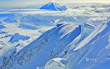 Climbers ascend Mt McKinley. Alaska