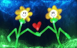 Cartoon flowers floral plants