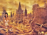 picture of a possible future woman city fantasy