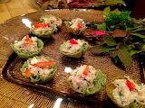 ^ Sesame Crab Salad in a Tart Cup