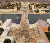 André Devambez - Exposition de 1937, Vue de la Tour Eiffel
