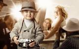 Look, girl, smile, hat, boy, child, camera, blonde, flash, repor