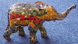 Colorful Mosaic Elephant