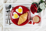 Breakfast On A Red Plate