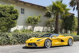 Yellow Ferrari sports car