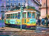 ^ Tram, Lisbon