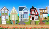 ^ Victorian houses
