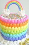 Rainbow cake @ My Cake School