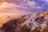 Sunset in Santorini.