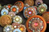 antique flower buttons