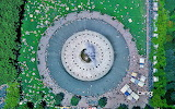 Ariel view of the International Fountain. Seattle. Washington