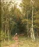 Ivan Shishkin Landscape with a figure