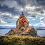 Clouds sevanavank monastery armenia