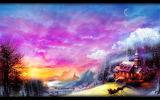 Paysage d'hiver-peinture