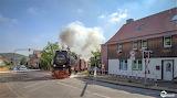 Railroad train going through Wernigerode Germany