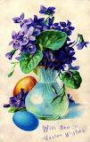 Vintage Easter Violets