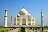 Palace, India, Taj Mahal, temple, bushes, fountains, Agra, trees