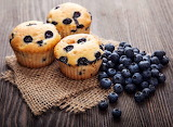 ^ Blueberry muffins