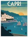 Vintage Capri Travel Poster