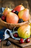 Pears, cherries and berries