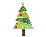 Fabric-christmas-tree-wall-sticker