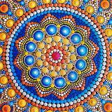 Hand Painted Dot Mandala