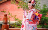 Colorful-clothes-kimono-Japanese-girl-smile-culture-tradition