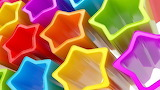 Colours-colorful-star shape-pentagons