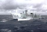 HMCS Montreal in rough seas
