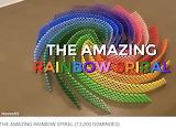 #1 Hevesh5 Amazing Rainbow Spiral