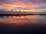 Painted Sky Reflecting on the Lagoon. Photo By Rhett Palmer