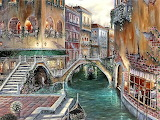 Robert Finale art paintings Venice Romance