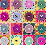 colorful buttons on fabric