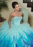 Blue Purple Ombre Fluffy Dress