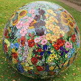 stained glass art sphere