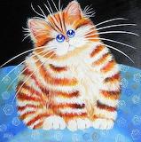 ^ Cute Fat Fluffy Cat ~ Yaryna Bosak