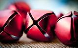 Red sleigh bells